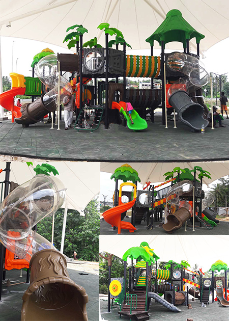 Outdoor playground in Sri Lanka