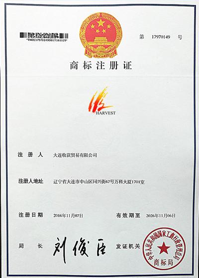 Trade Mark Registration Certificate 1