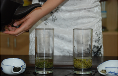 Green Tea brewing art Step 6