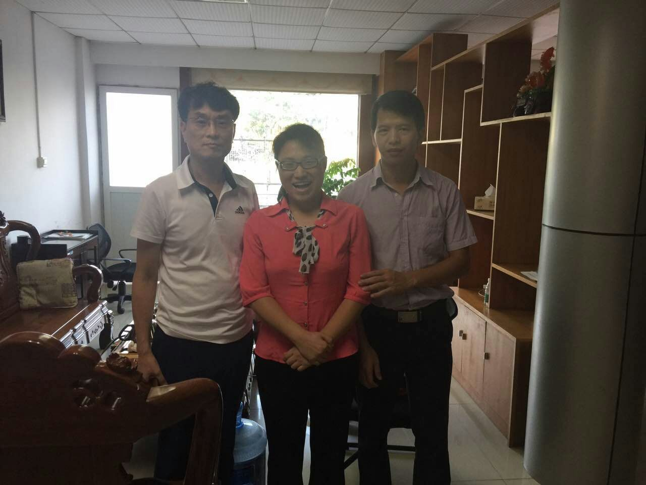 In Sep 2016, our korean customer come to visit our factory