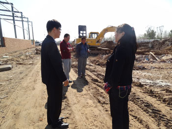 korea customer visit our building factory