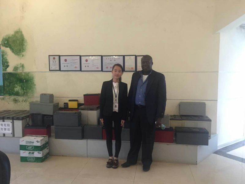 Africa customer choose FL series front terminal gel battery