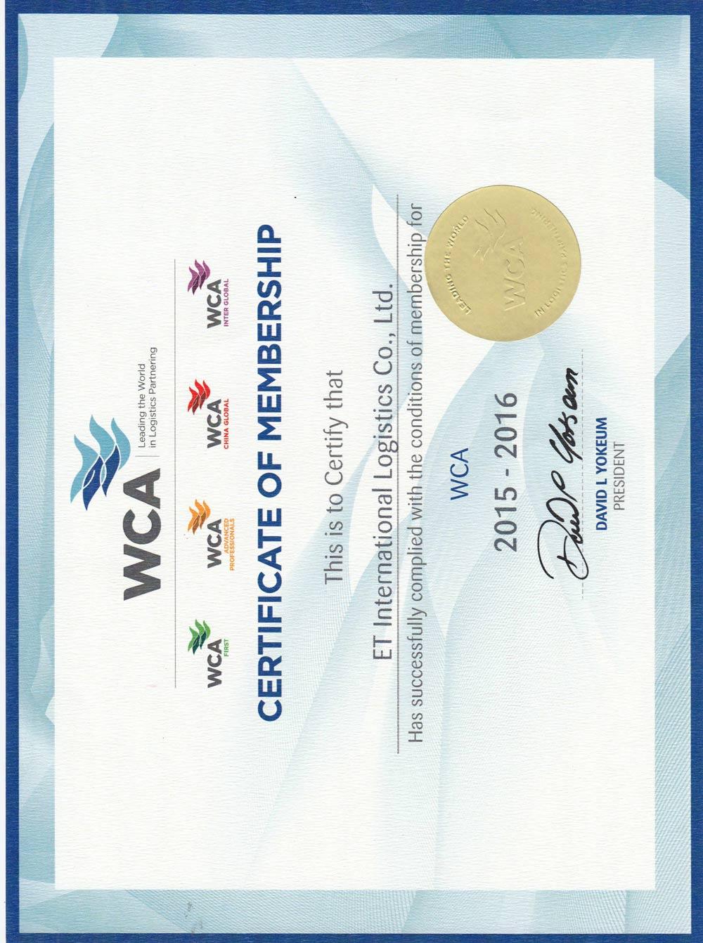 Member of WCA
