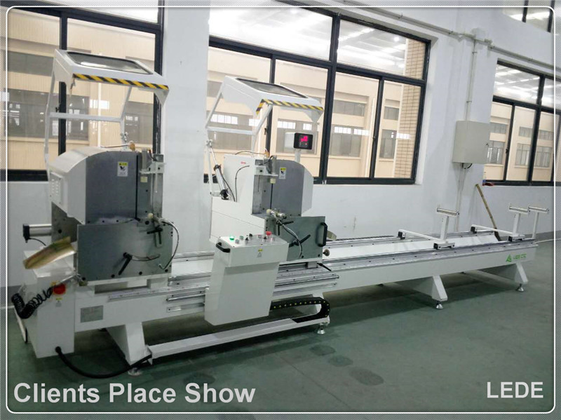 Double Mitre Cutting Saw Machine 45 and 90 Degree for Aluminum Alloy Profile
