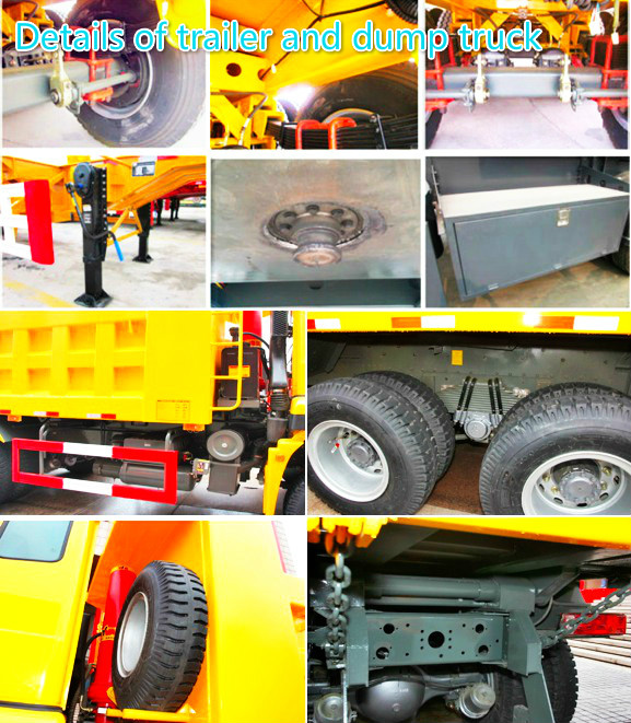 Details of trailer and dump truck