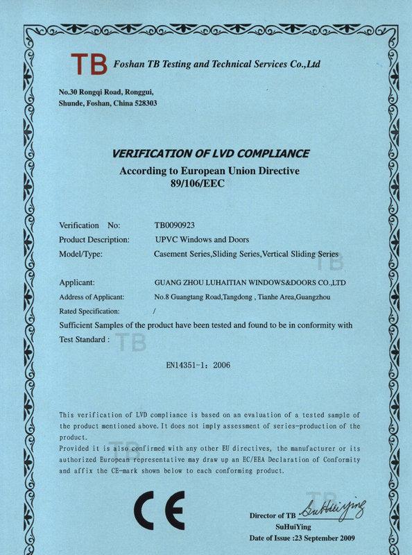 CE Certification - 1