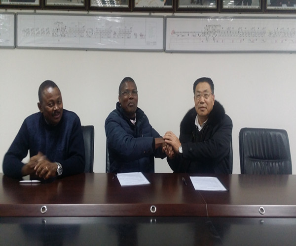 Signing Contract Ceremony with Angola Customer