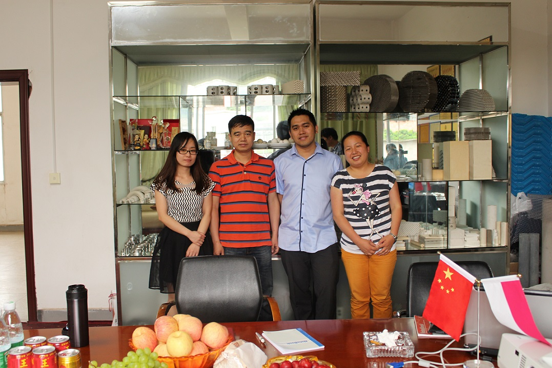 Singapore customer visting