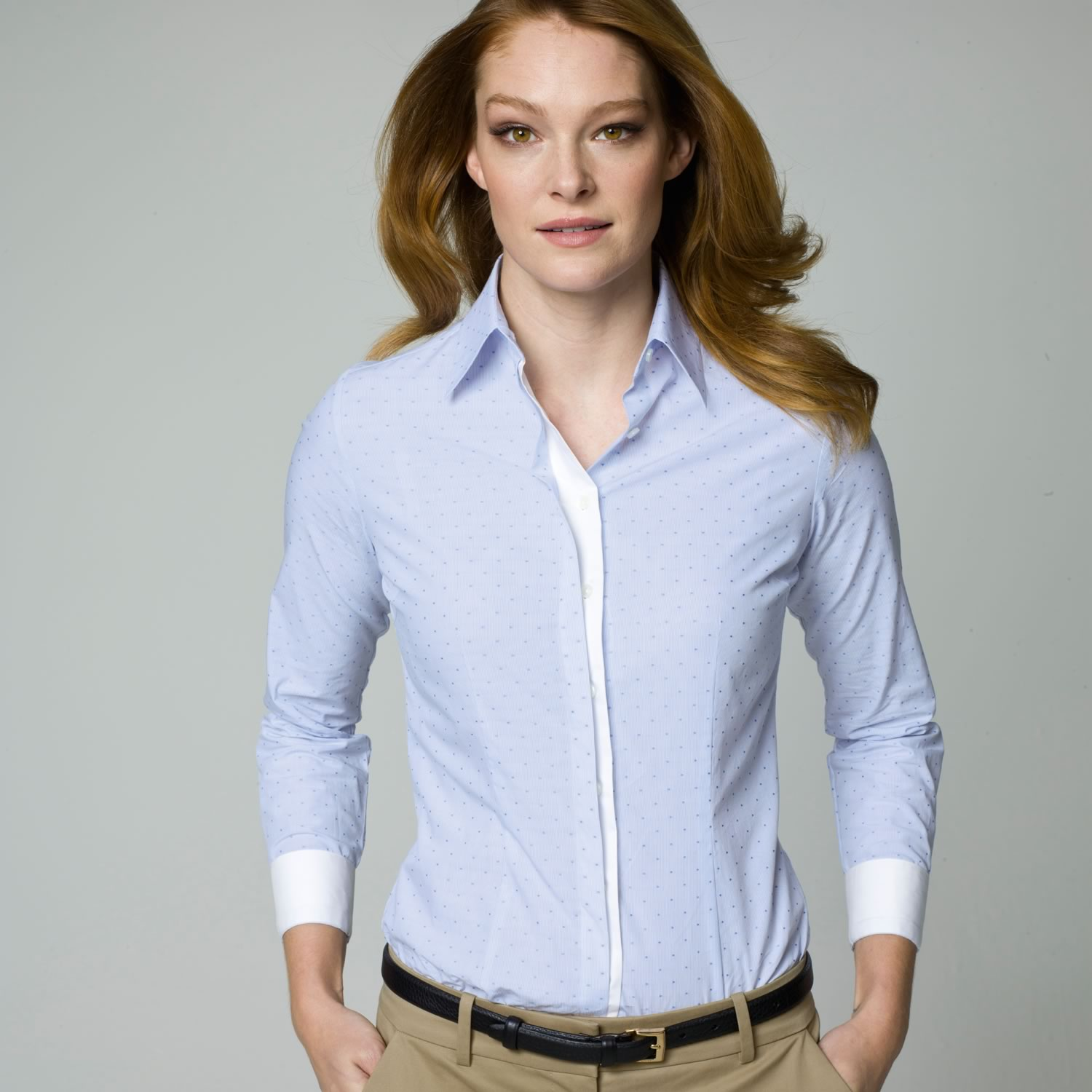 women cotton poplin business shirts shenzhen elite
