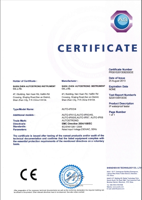 certificate ip protection against ce