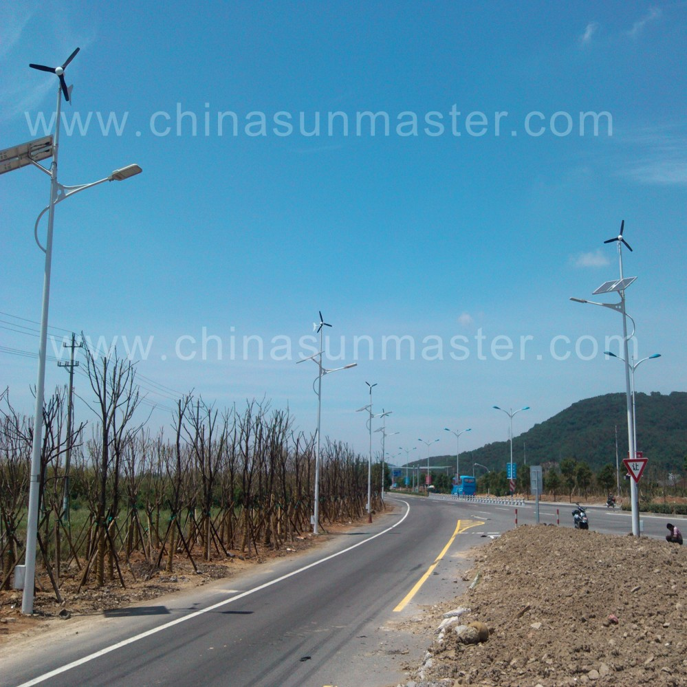 Wind and solar lights in zhoushan China