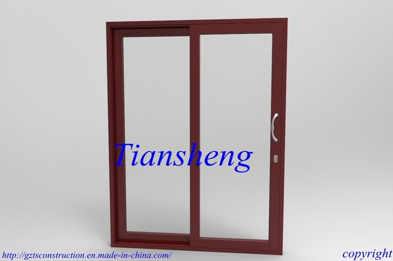 Aluminum Sliding Door with Double Glazing Built-in Blind