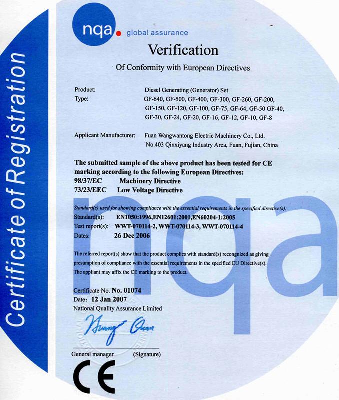 CE Certificate