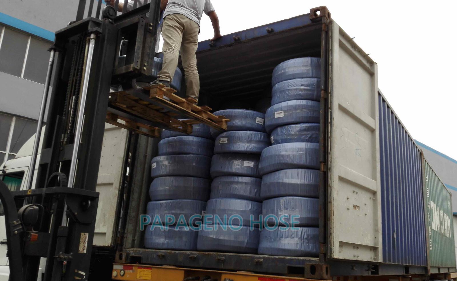 PVC Steel wire reinforced hoses Loading