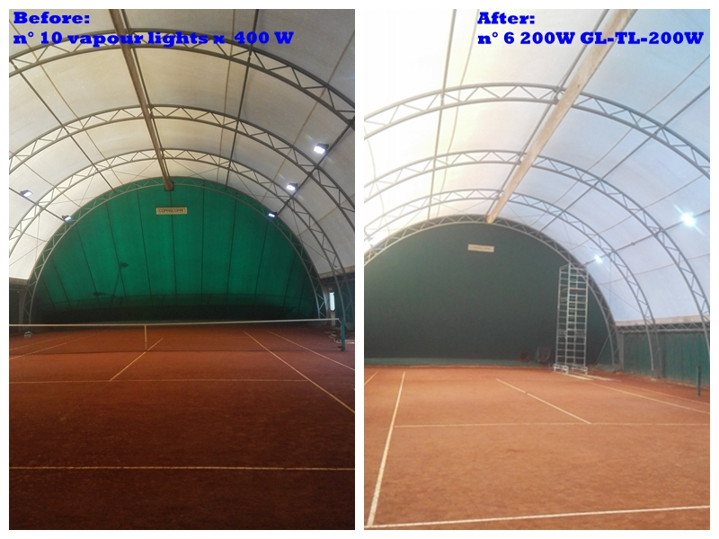 20W LED flood light GL-TL-200W for tennis courts