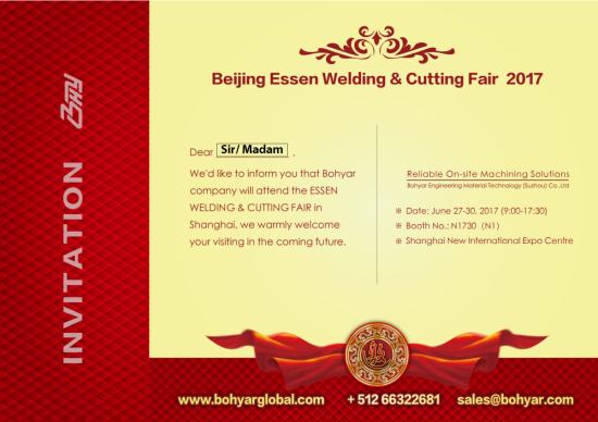 Invitation of Eseen Welding & Cutting Fair 2017-Bohyar