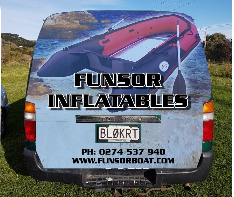 Van Advertising from FUNSOR distributor of New Zealand