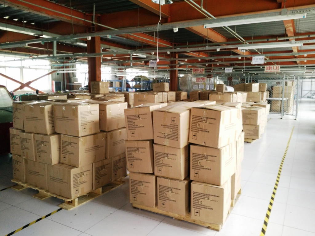 Warehouse--area for bags to be shipped