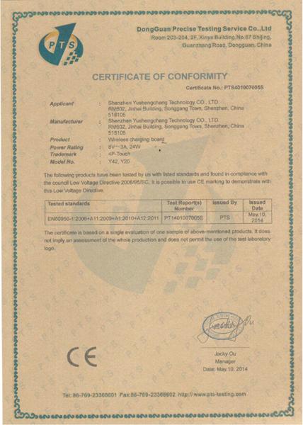 CE Test Certificate