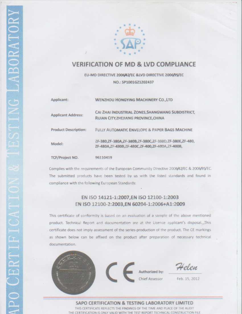 CE Certificates