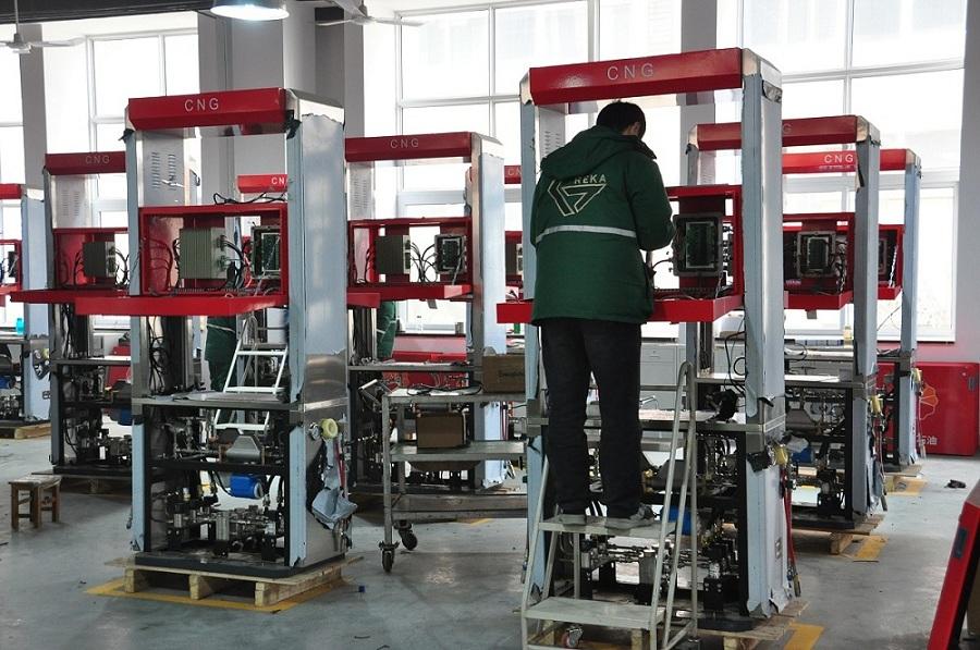 Greka Intelligent CNG dispensers in the workshop