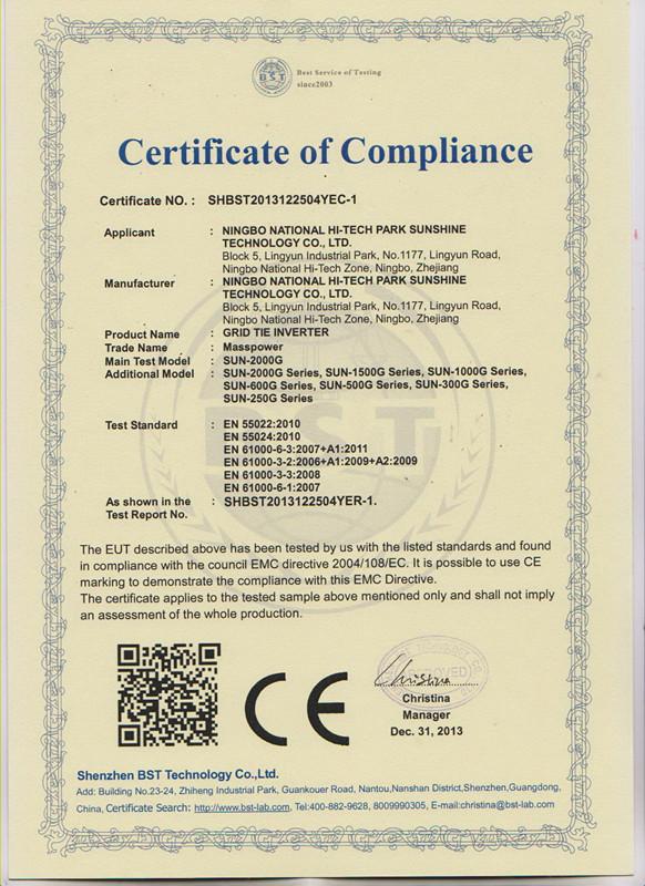 CE(EMC)-GRID TIE INVERTER
