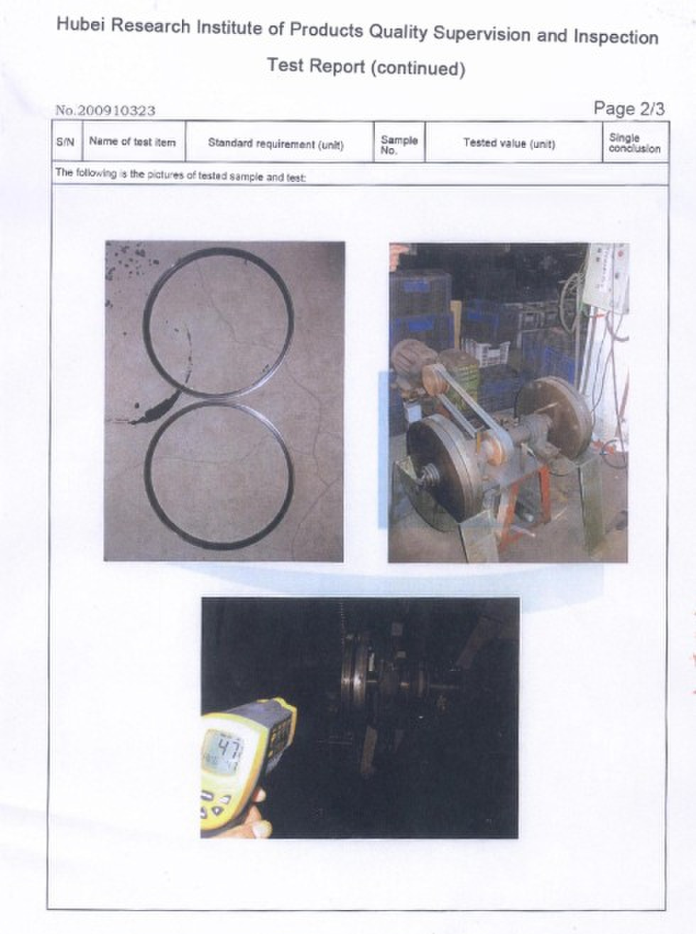 Test Report Of Service Life Of Floating Seal-2