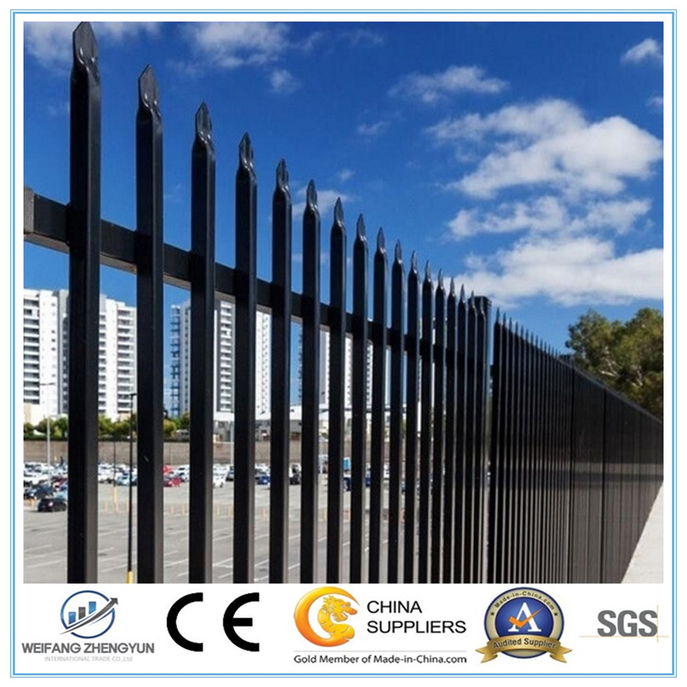 Good Quality Colors Wrought Iron Fence / Steel Fence.