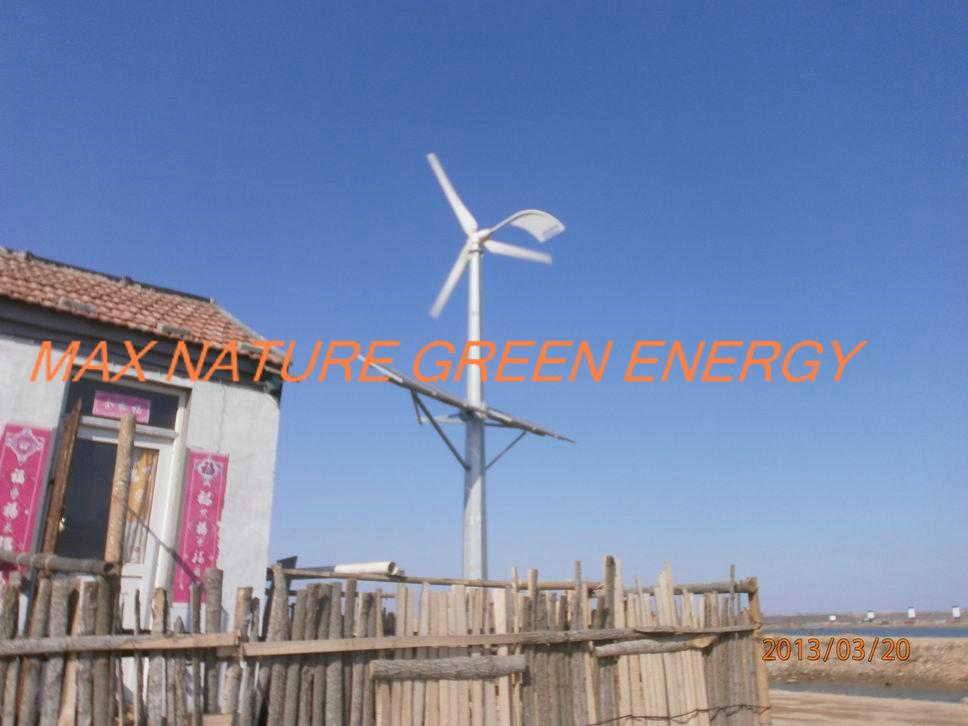 2kw wind turbine + 3kw solar panels hybrid system