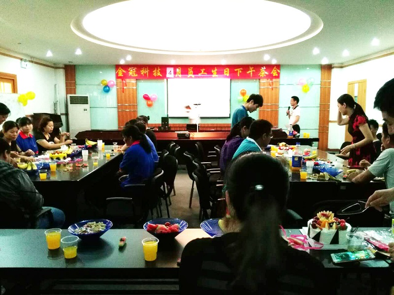 Company Team staff Birthday Party Celebrating in April 2017