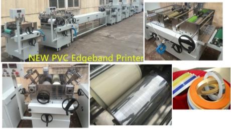 2015 New PVC edge banding printing line