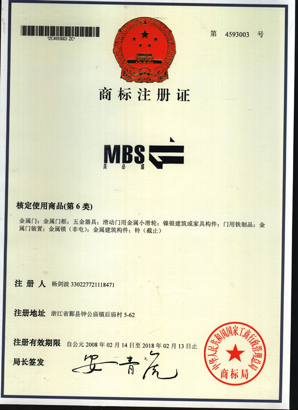 MBS Trademark Registration