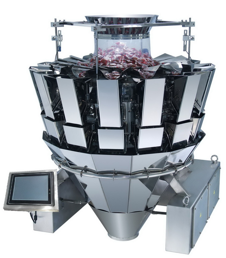 14 heads multihead weigher with touch screen was successful put on market