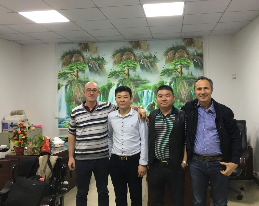 Italy customer visit our factory