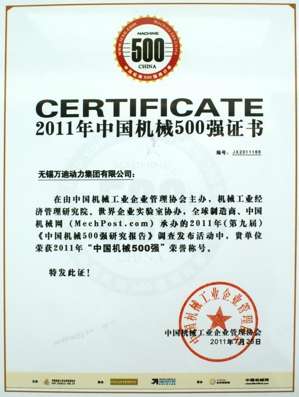 Machine China 500