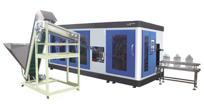 on Chinaplas 2015, ZQ Exhibits:20 litre fully-automatic PET bottle blowing machine.