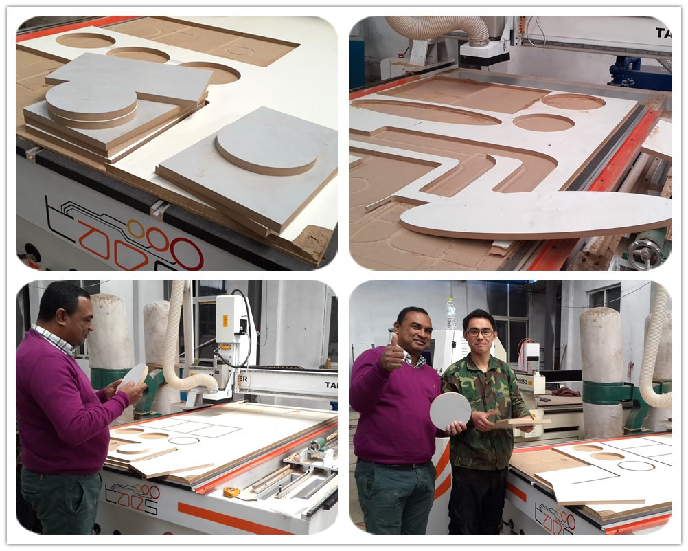 How satisfied with our CNC Cutting machine our customer is!