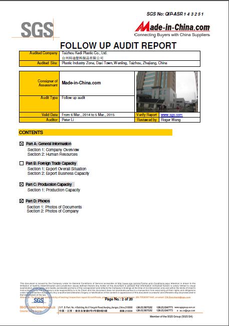 SGS-Supplier Assessment Report