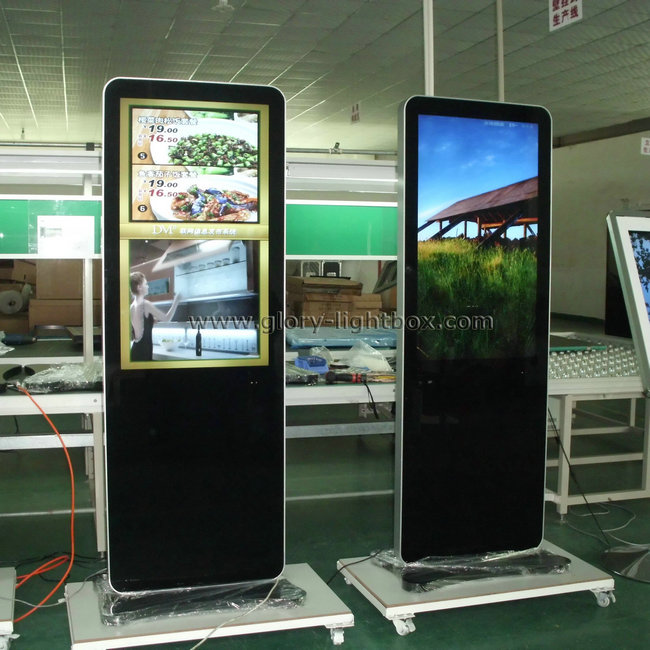 Self-standing 42'' size network Advertising player