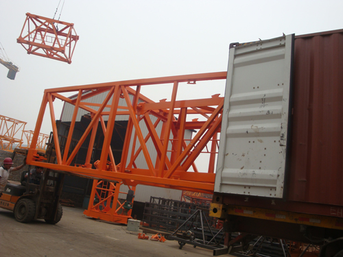 Loading jacking frame of hammer head tower crane