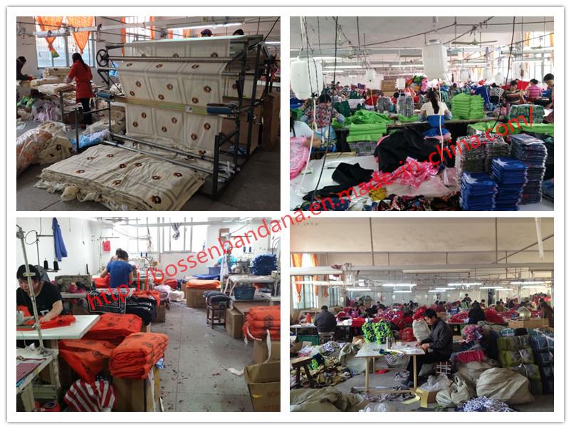 Bandana Production---Printing&Sewing&Packing