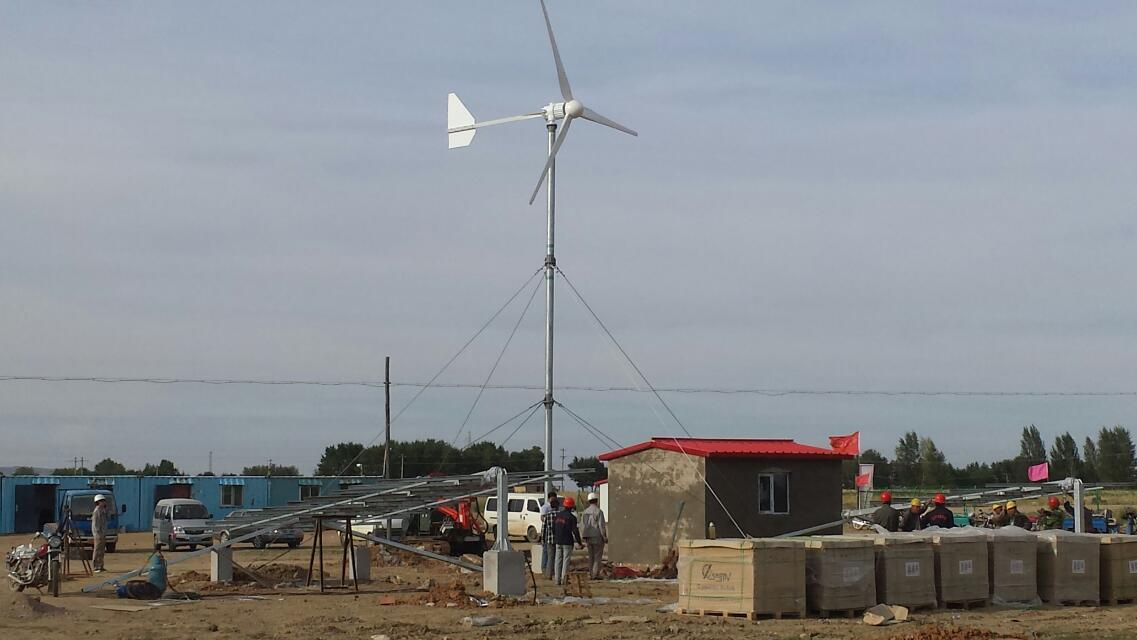 2kw wind solar off grid system project