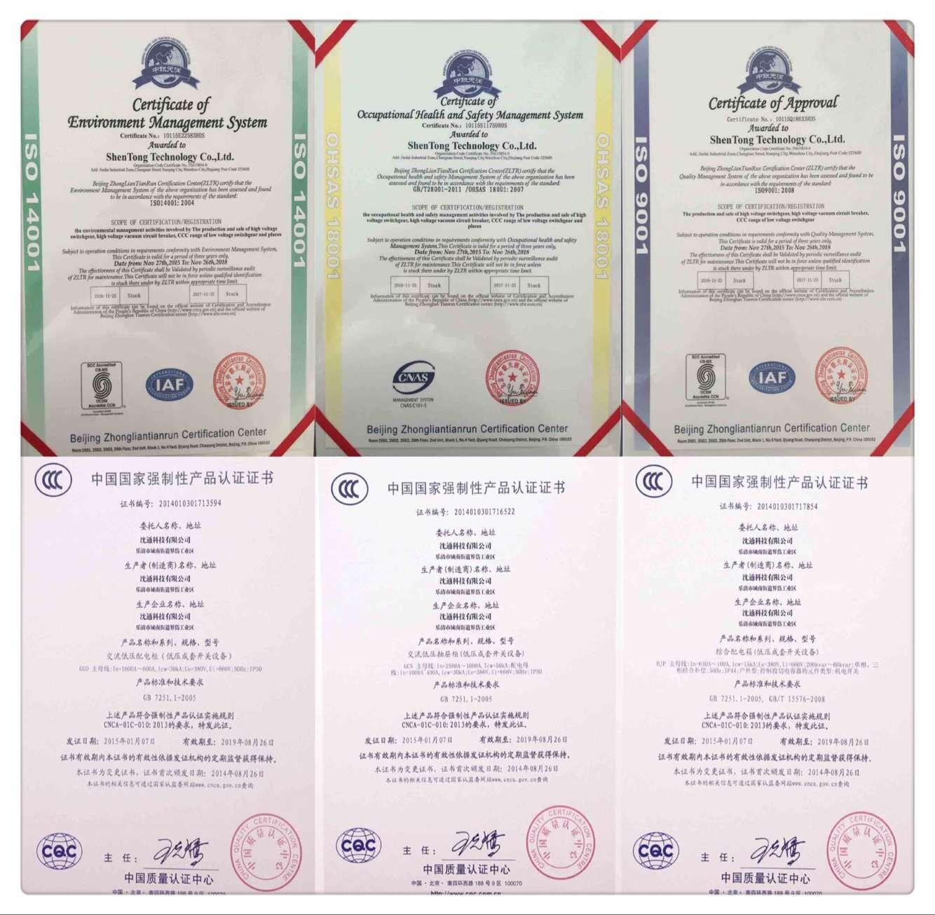 ISO9001 ISO16001 ISO18001