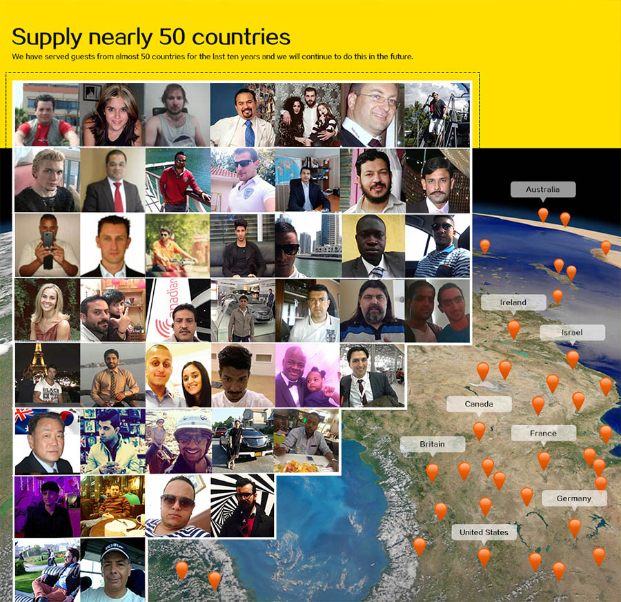 Customers from more than 50 countries.