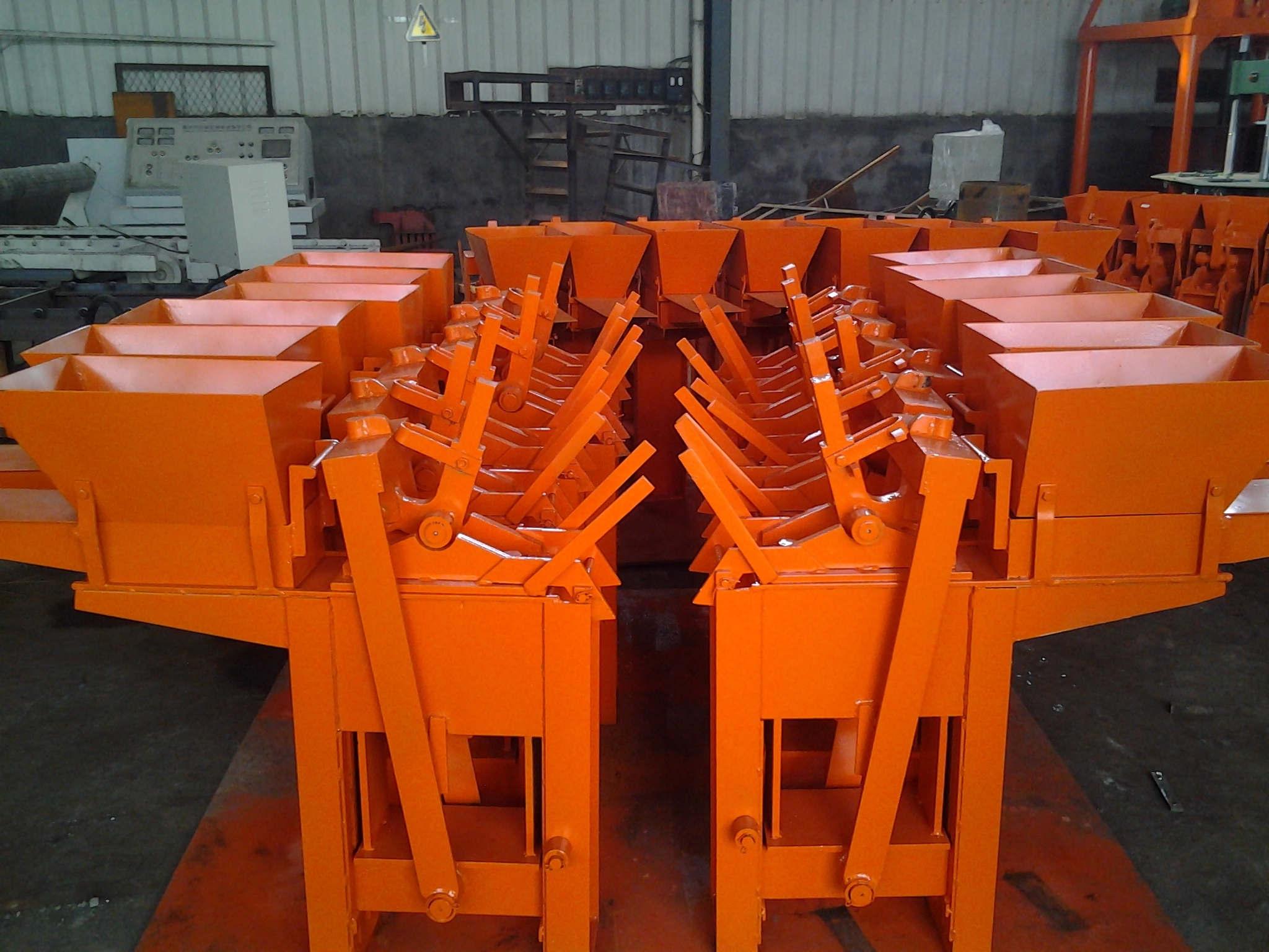 HR1-40 manual interlocking brick making machine
