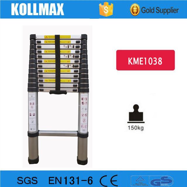 3.8m Aluminum Telescopic ladder for EN131