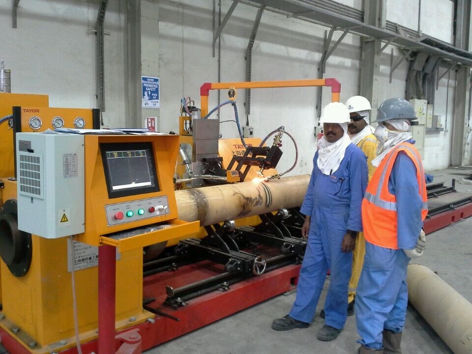Plasma and Flame CNC Pipe Profile Cutting Machine to Qatar