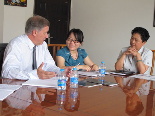 Director-General of Agence De DéVeloppement De L'alsace Come to Our Company for Negotiation
