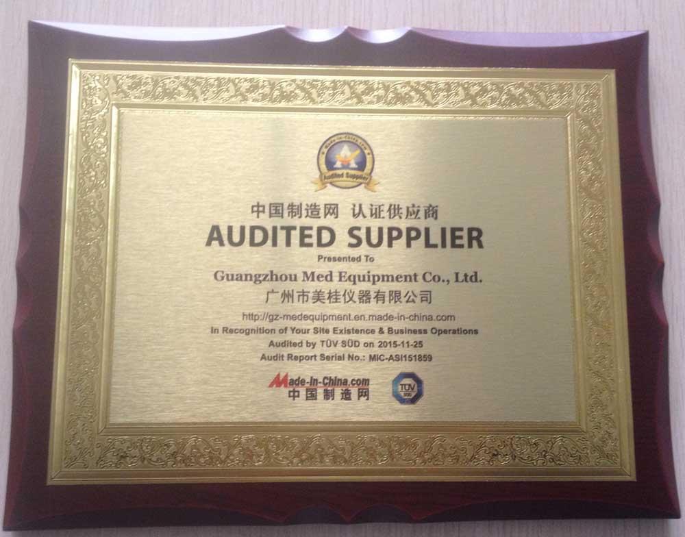 TUV Sertificate of Med Equipment