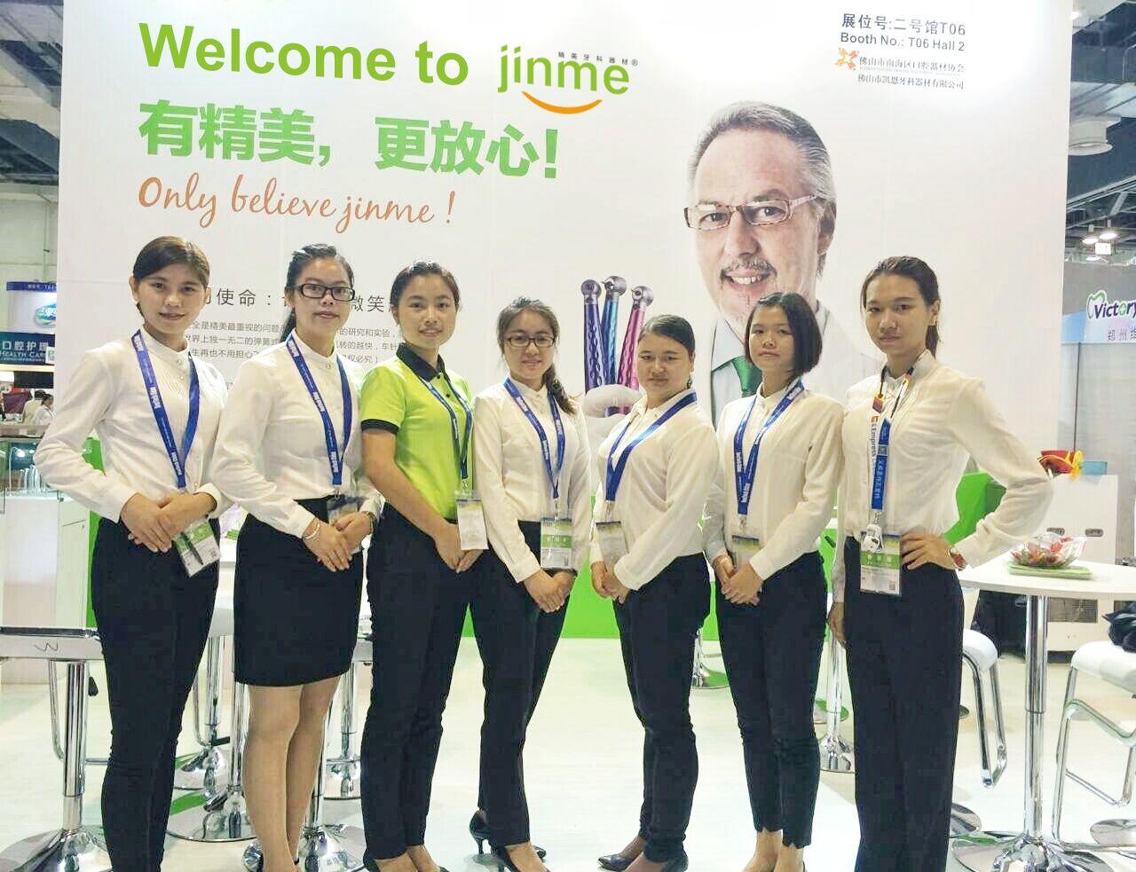 JINME team in Shanghai dental exhibition